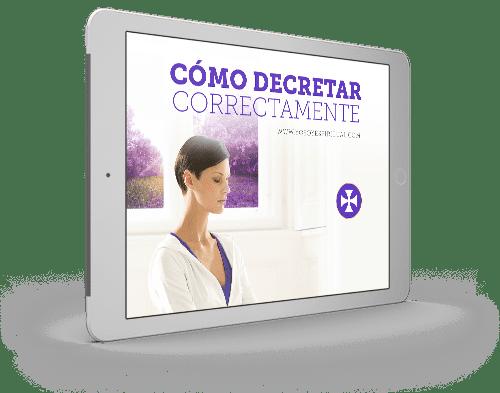 Folleto | Aprende a decretar correctamente - paso a paso