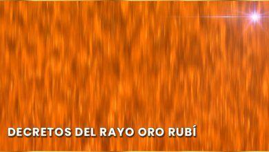 Meditación decretos del Rayo Oro Rubí - Viernes