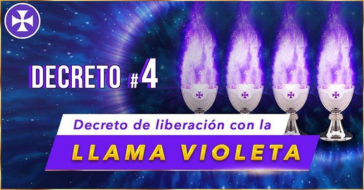 Decreto de Liberación con la Llama Violeta